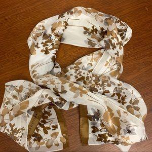 Jones New York 100% silk floral scarf